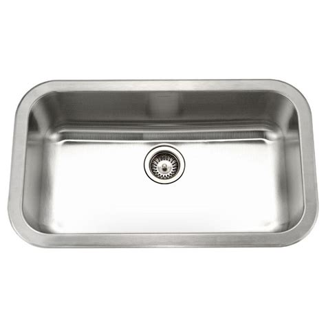 Stainless Steel Undermount Kitchen Sinks Single Bowl Houzer Medallion Gourmet Undermount Stainless Steel 32 In Large Single Bowl Kitchen Sink Mgs