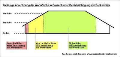 Raum Quadratmeter Berechnen by Berechnung Der Wohnfl 228 Che Bei Dachschr 228 Dachschr 228 Ge