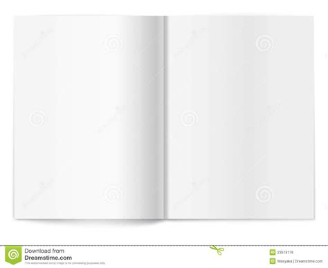 blank magazine spread template for design royalty free stock image image 23519176