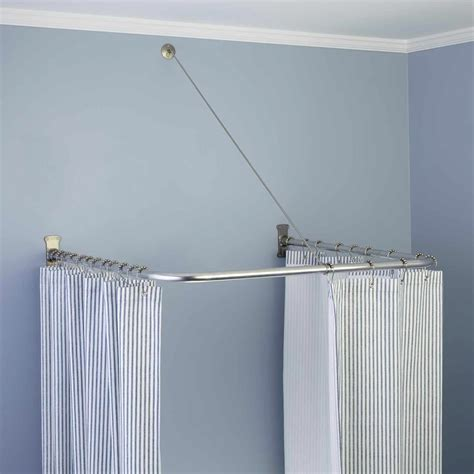 u shaped curtain pole u shaped shower curtain rod home design ideas