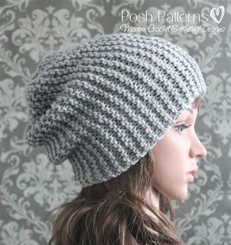 knitting pattern sites easy slouchy hat knitting pattern