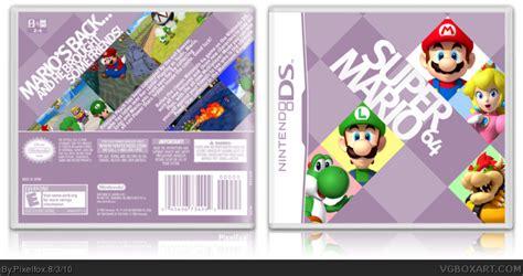 super mario 64 ds wii super mario 64 ds nintendo ds box art cover by pixelfox