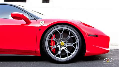 ferrari 458 wheels cec wheels shows off a ferrari 458 italia doing donuts