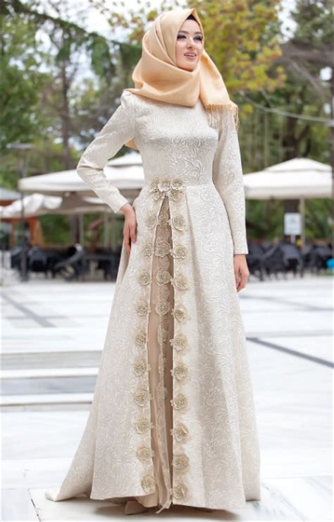 Dres Brokat Wanita 50 model baju brokat muslim dari dress gamis hingga