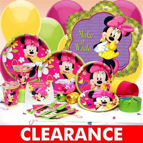 birthday supplies 27 jun 2008 get minnie mouse birthday supplies to make your