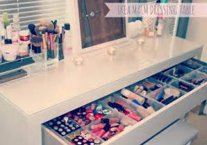 Ikea Makeup Vanity Organizer My Makeup Storage Ikea Malm Dressing Table Couture