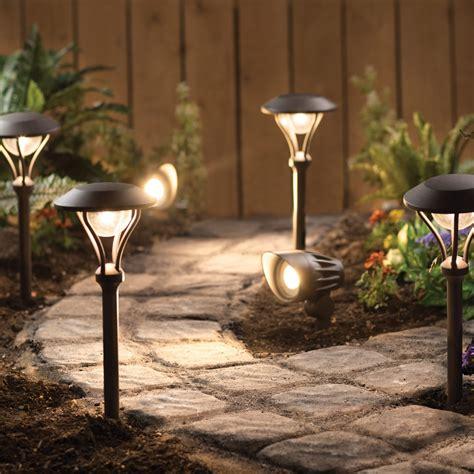 engine 4 landscape lighting led 6 pack landscape lighting kit 4 pathway lights 2 spotlights textured rubbed bronze