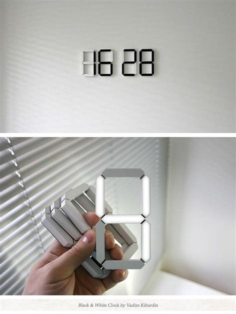 cool digital wall clocks a digital clock you can stick anywhere