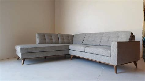 mid century sofa with chaise mid century modern sectional chaise sofa