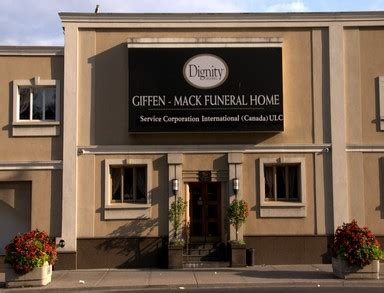 giffen mack funeral home cremation centre danforth