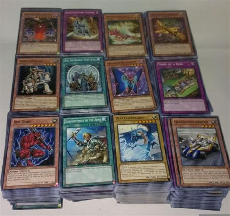 1000 yugioh card lot ten yugioh 100 cards bulk mixed lot pack with rares holo
