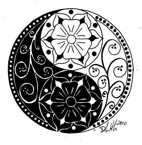 yin yang flower tattoo flower tattoos yin yang flower