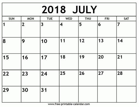 free printable calendar free printable calendar july printable calendar july 2018 free journalingsage com