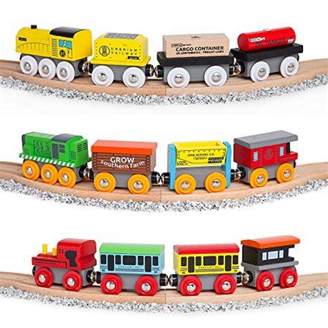 chuggington brio orbrium toys 12 pcs wooden engines train cars collection