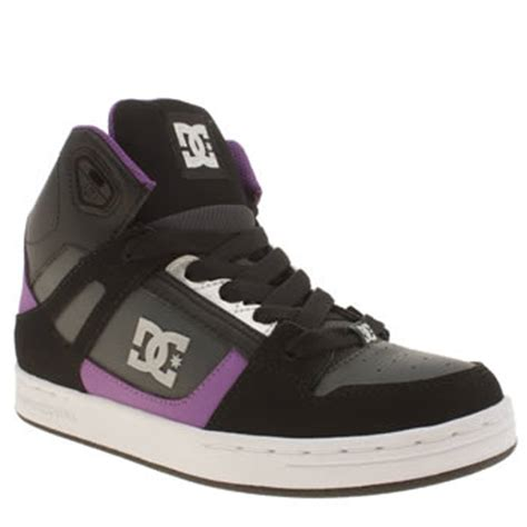 black purple dc shoes rebound junior trainers schuh