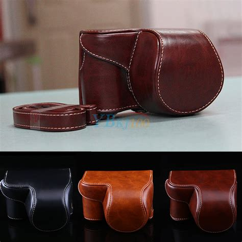 Leather A6000 stylish pu leather bag for sony alpha a6000 with 16 50mm lens ebay
