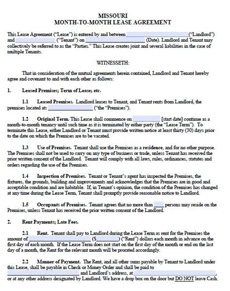 Printable Sle Monthly Rental Agreement Form Real Estate Forms Word In 2018 Pinterest Lease Commencement Letter Template