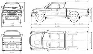Mitsubishi L200 Dimensions Mitsubishi L200 Blueprint Free Blueprint For 3d