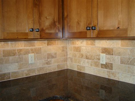 Backsplash Tile Subway Travertine And Tim S