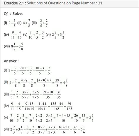 Maths Worksheets For Grade 7 Cbse With Answers Pdf