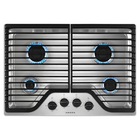 30 in gas cooktop amana 30 in gas cooktop in stainless steel with 4 burners