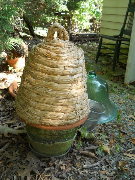 Bee Garden Decor Vintage Large Woven Bee Skep Garden Decor Shabby Chic Rustic