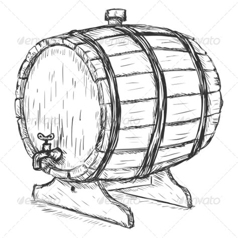 Wine Barrel Bathtub Wooden Wine Barrel Graphicriver
