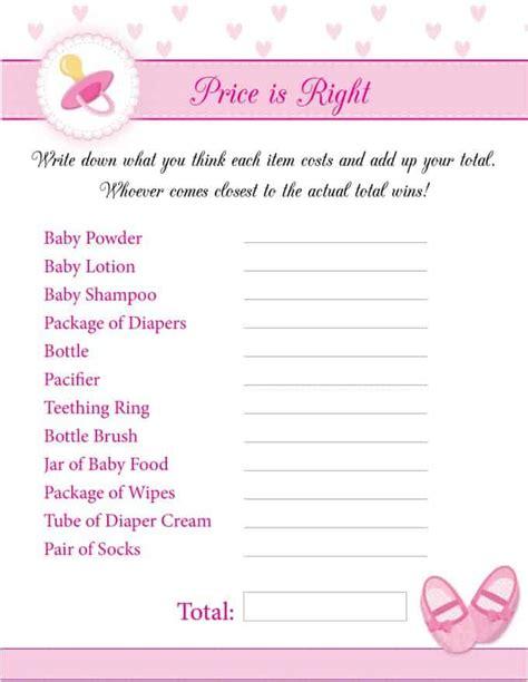 printable baby shower games girl 8 free printable baby shower games for girls simply stacie