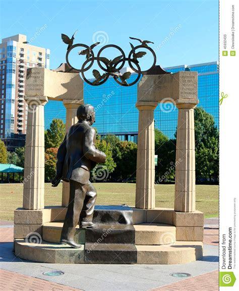 gallery of calvin seibert sculpts impressive modernist statue of pierre de coubertin and olympic sculpture in