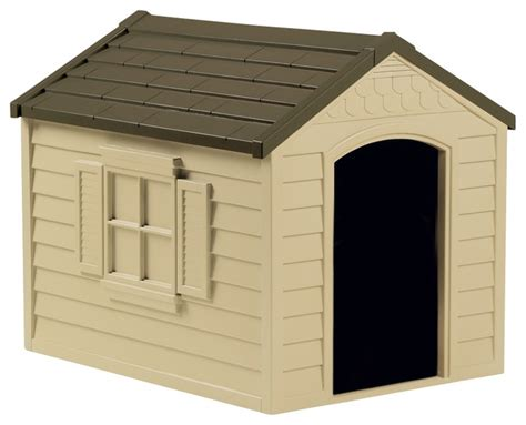 medium sized dog house suncast medium sized dog house w tan olive finish