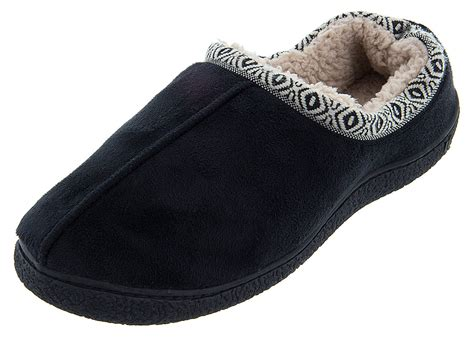 black isotoner slippers isotoner black woodlands slippers for