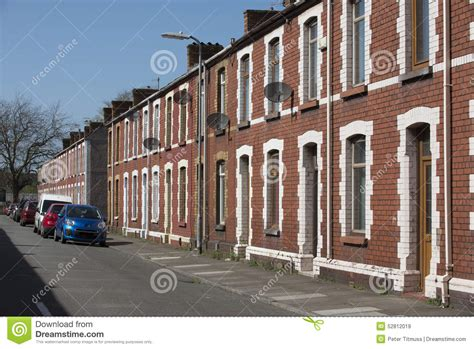 Plans For Cottages And Small Houses Old Welsh Terraced Houses Editorial Stock Image Image