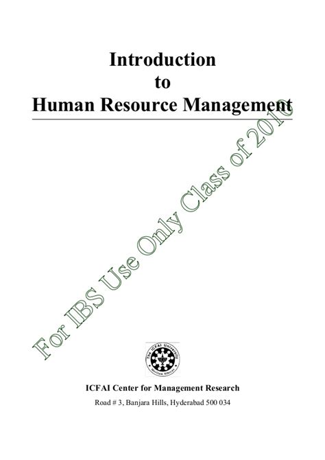 Mcq On Hrm Mba by Intro To Hrm