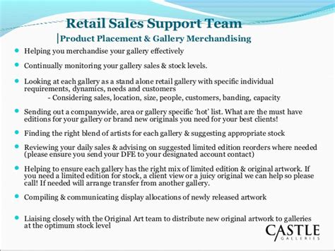 sle business plan retail shop retail sales support team