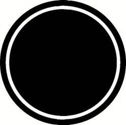 custom vinyl lettering dark double circle with border