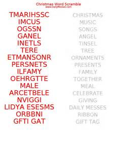 daily messes christmas word scramble