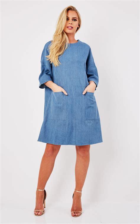 Boxy Dress oversized boxy denim t shirt dress silkfred