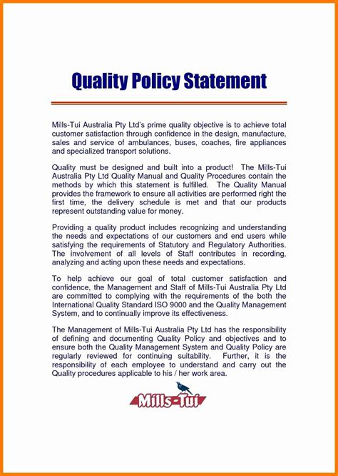 template of quality policy iso 9001 quality policy statement exle with fresh inspiration 7 policy statement exles