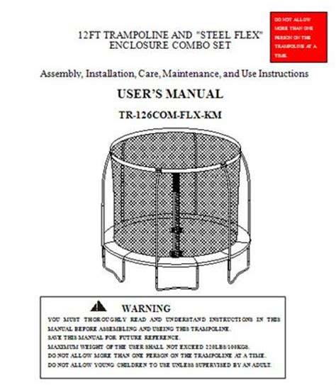 sportspower swing set manual manual for the 12 sportspower combo model tr 126com flx km