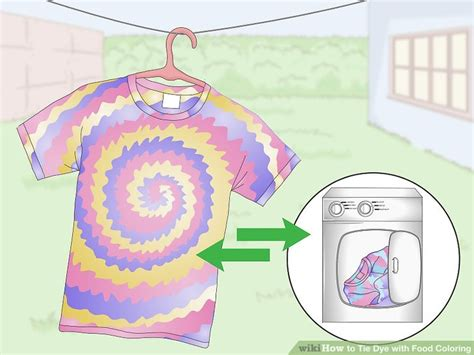 how to tie dye with food coloring with pictures wikihow
