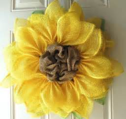 Burlap Sunflower Wreath Yellow Sunflower Greet Your Guests With A Springtime Wreath For