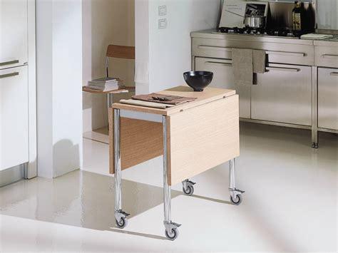 tavolo con ribalta tavolo a ribalta con ruote flash bontempi casa