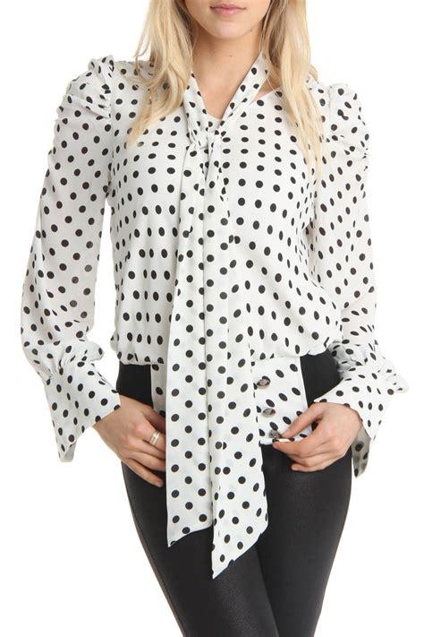 Blouse Polka polka dot blouse womens fashion