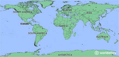 world map el salvador where is el salvador where is el salvador located in