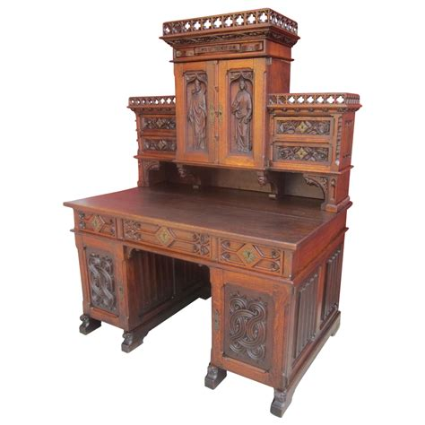 French Antique Gothic Desk Antique Furniture Sold On Ruby Lane Desk Antique