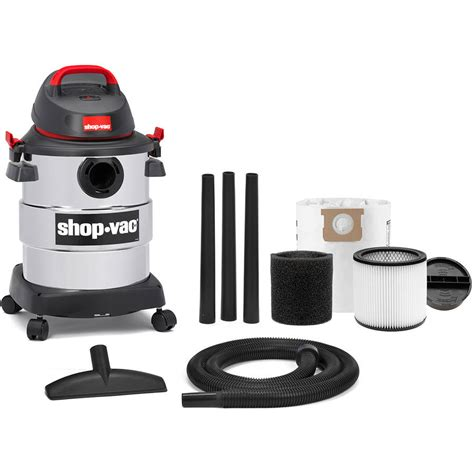 Shoo Gallon shop vac 6 gallon 4 5 peak hp stainless steel vac