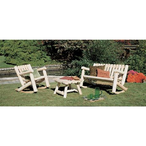 Log Patio Furniture by Rustic Cedar Furniture Company 174 Cedar Log