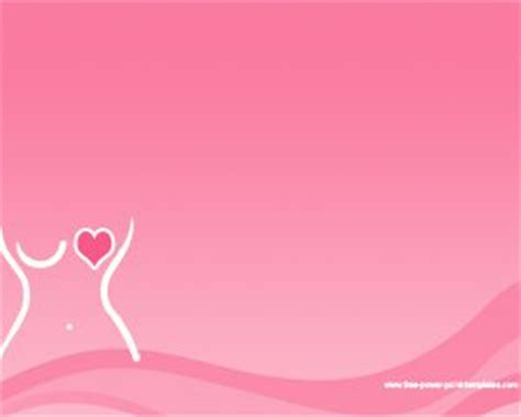 free breast cancer powerpoint with pink background color