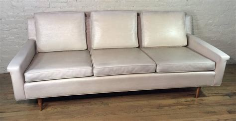 vinyl couches mid century modern vinyl sofa by milo baughman for thayer