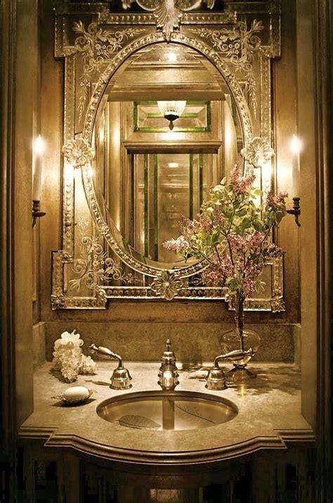 luxury powder rooms color designing  elegant